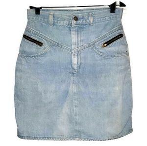 "Candies Vintage Denim Jean Mini Skirt 28""WaistBlue"